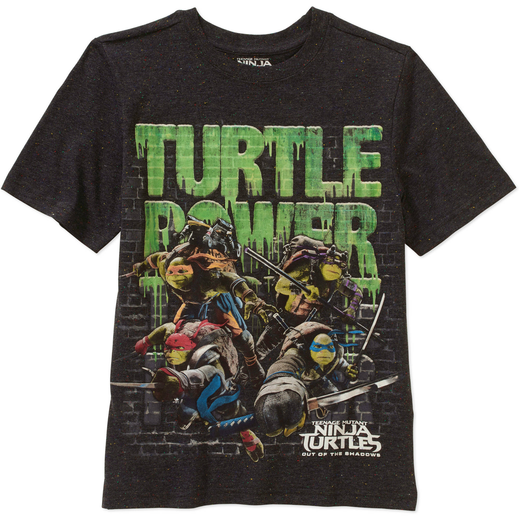 Teenage Mutant Ninja Turtles Boys' Confetti Short Sleeve T-Shirt