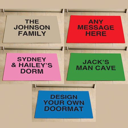 Personalized Any 3-Line Message Doormat, 17