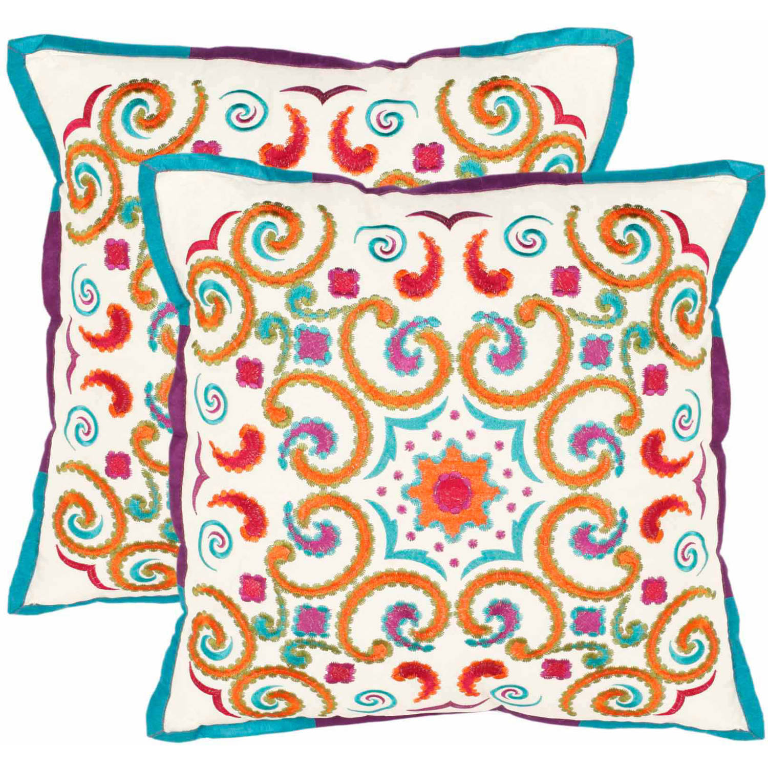 "Safavieh Calycopis 18"" x 18"" Pillow, Set of 2"
