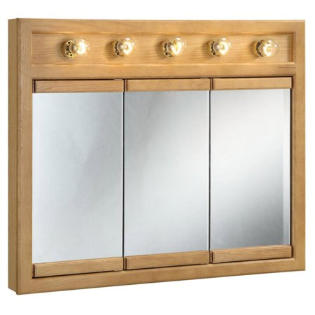 Design House Richland 5-Light Tri-View Medicine Cabinet Mirror with 3-Doors