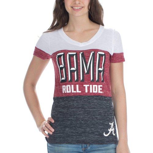 NCAA Alabama Crimson Tide Women's Short Sleeve V Neck Tee