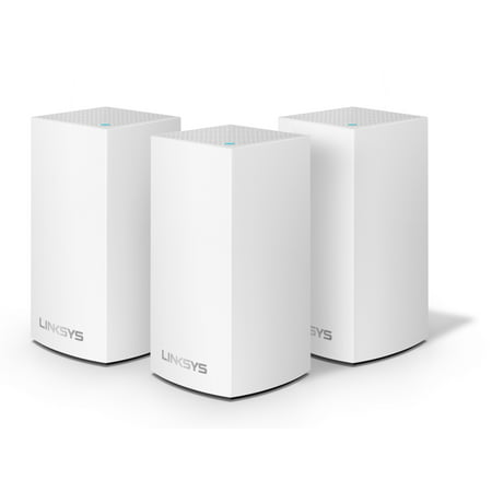 Linksys Velop Dual Band AC3600 Intelligent Mesh WiFi Router Replacement System | 3 Pack | Coverage up to 4,500 Sq Ft | Walmart Exclusive