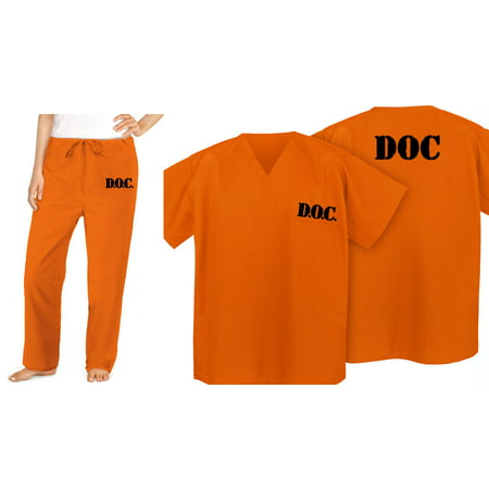 Womens Orange Prisoner Costume (Prisoner Costume Jail Uniform for Orange is the New Black)