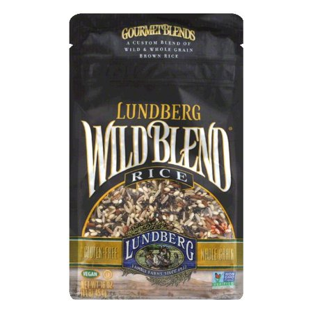 Brown Rice Blend (Lundberg Gluten Free Rice Eco-Farmed Wild Blend Gourmet Natural Brown Blend, 16 OZ (Pack of 6))