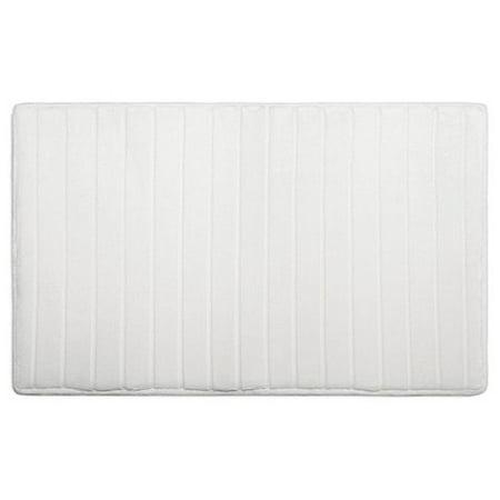 Ultimate Luxury Memory Foam Bath Mat 17x24 White Step