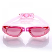 EleaEleanor Adjustable Swimming Glasses with Silicone Earplugs Electroplate Waterproof Anti-fog Swimming Goggles Eyewear in Sports & Outdoors