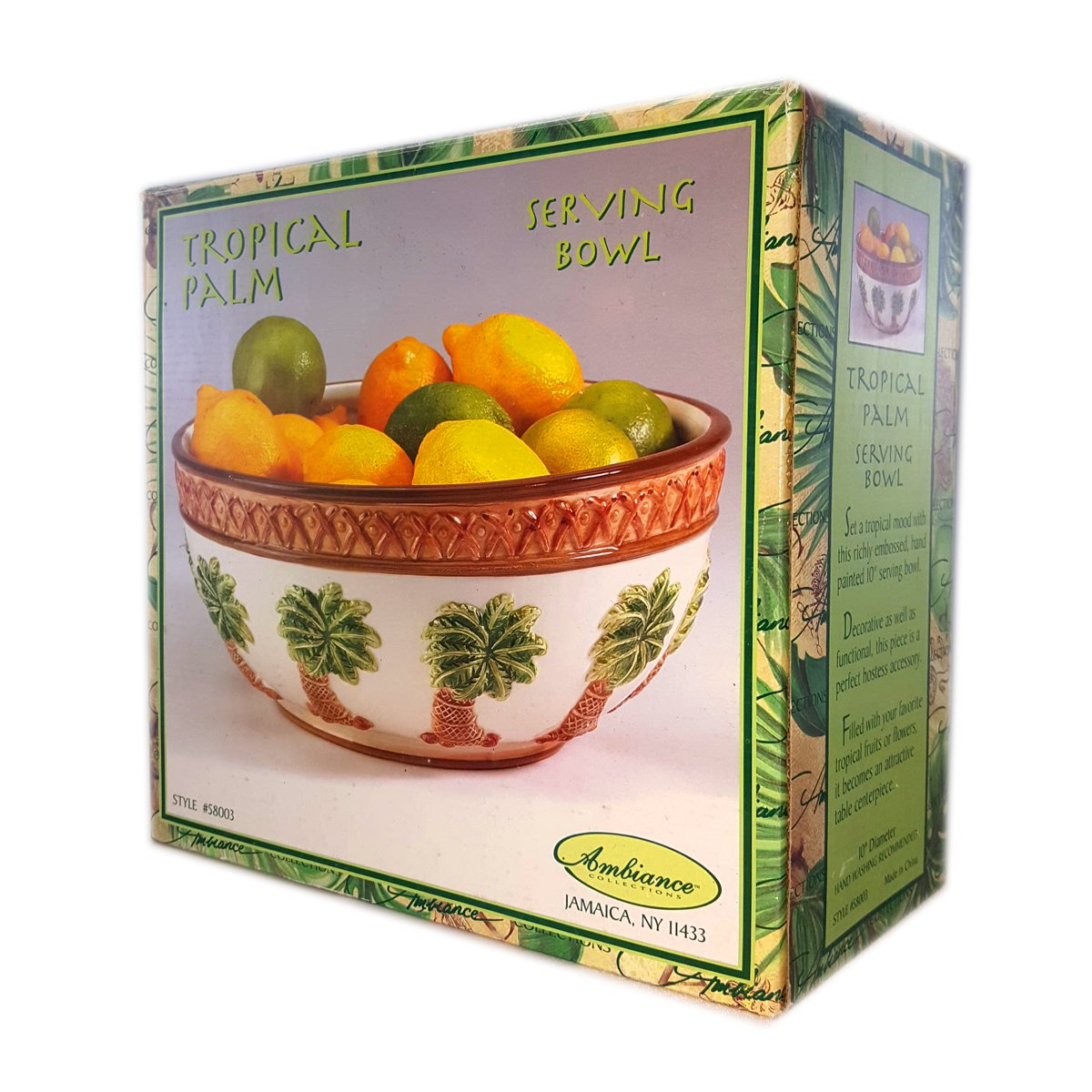 Ambiance Collections Tropical Palm Tree Serving Bowl Section Server No. 58003 by Ambiance