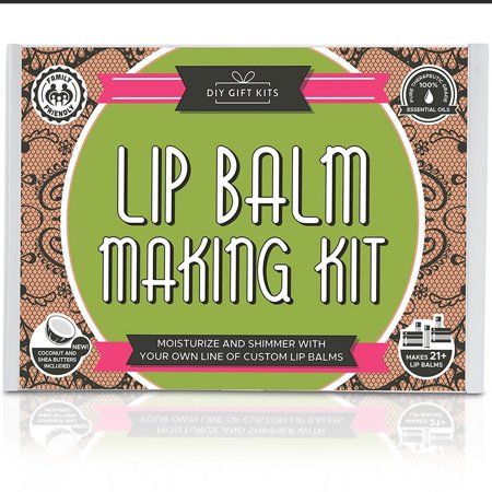 DIY Lip Balm Kit- Deluxe, (77-Piece Set) , with FILLING TRAY | Includes Tubes, Beeswax Pouch, Essential Oils, Labels + (Best Essential Oils For Lip Balm)