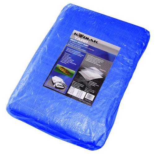 Kodiak Tarps Blue 10' x 40' Tarp Cover For Shade Motorcycles Cars or Pools
