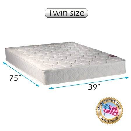 American Legacy Gentle Firm Innerspring Twin Size  39  X75  X8    Mattress Only   Sleepy System With Enhance Support Fully Assembled  Orthopedic  Good For Your Back  Longlasting By Dream Solutions Usa