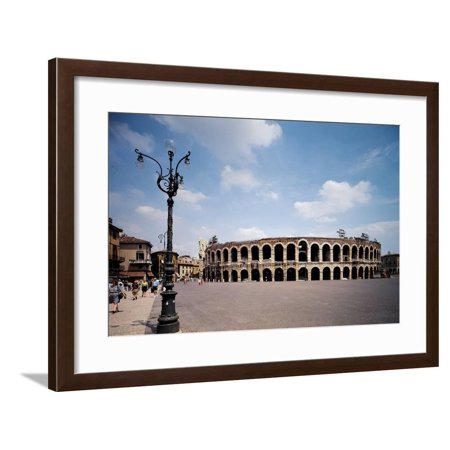 Verona Marble (The Arena Or Roman Amphitheatre in Verona, 1st Century, Marble and Brick Framed Print Wall Art )