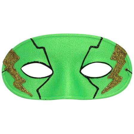 Success Creations Bolt Green Superhero Mask