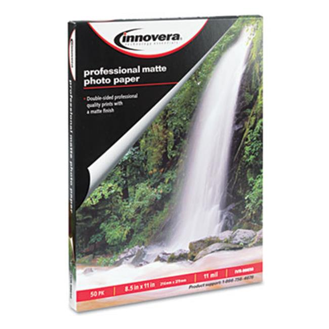 Innovera 99650 Heavyweight Photo Paper, Matte, 8.5 x 11, 50 Sheets-Pack