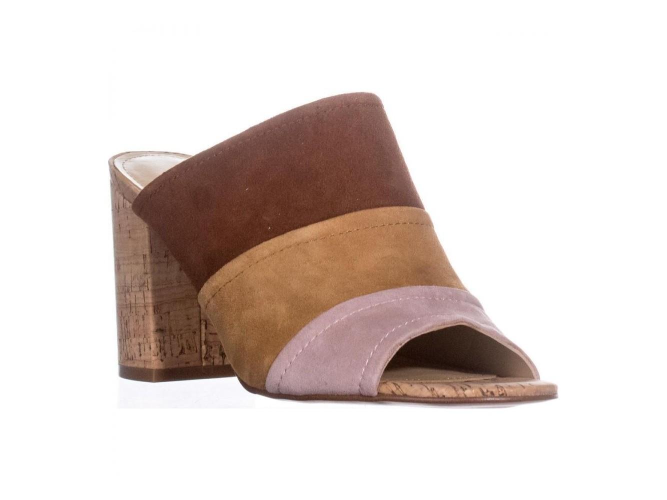 9aa8183fd64fd0 Marc Fisher Womens Prenna Leather Open Toe Casual Mule Sandals