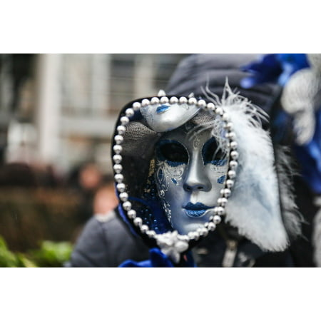 Framed Art For Your Wall Carnival Bruges Disguise Costume Mask Festival 10x13 Frame