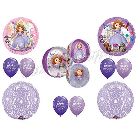 SOFIA THE FIRST LILAC TAPESTRY Birthday party Balloons Decoration Supplies 1st by Anagram - Sofia The First First Birthday