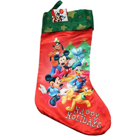 Christmas Stocking - Disney -  Mickey Mouse Happy Holiday Socks New 388294](Big Stockings For Christmas)