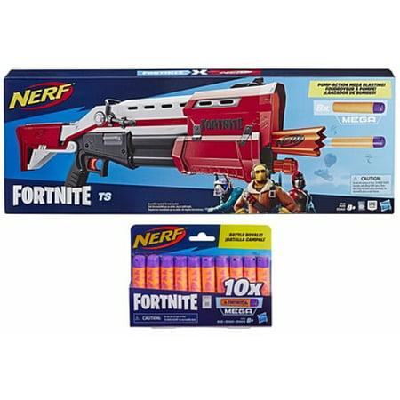 Nerf Fortnite TS Tactical Shotgun with Extra 10x Mega Fortnite Darts