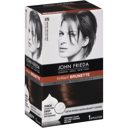 3000 Colour (John Frieda® Precision Foam Colour Brilliant Brunette® 4N Dark Natural Brown Permanent Hair Colour 1 ct)