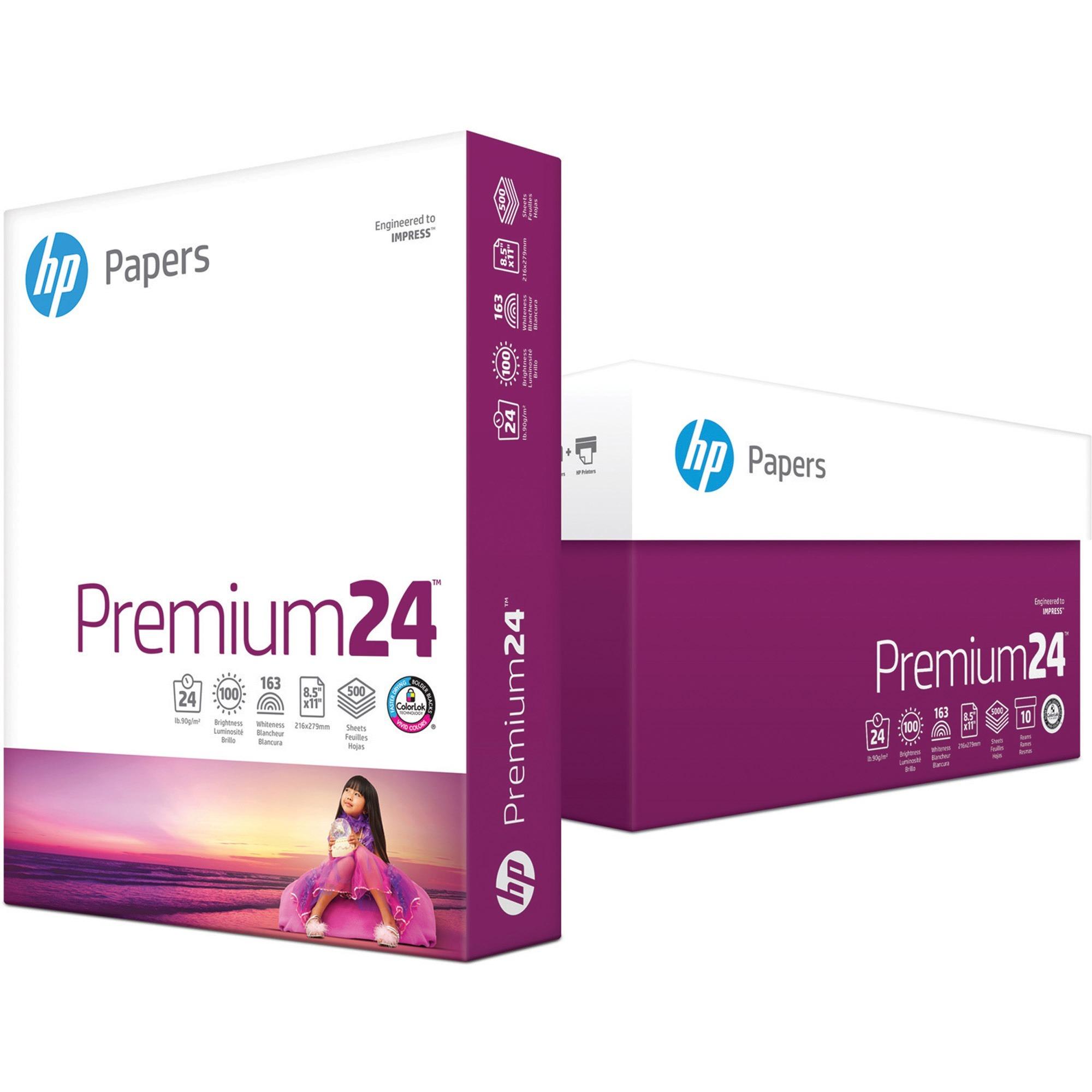 HP, HEW115300, LaserJet Paper, 5 / Carton, White