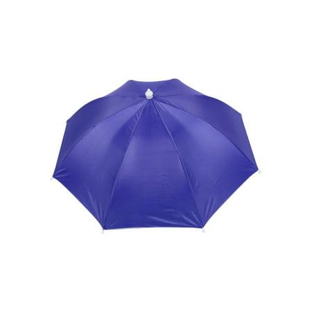 ec628894a7c2c Unique Bargains Outdoor Sports White Elastic Band Fishing Rain Sun Umbrella  Hat Purple - Walmart.com