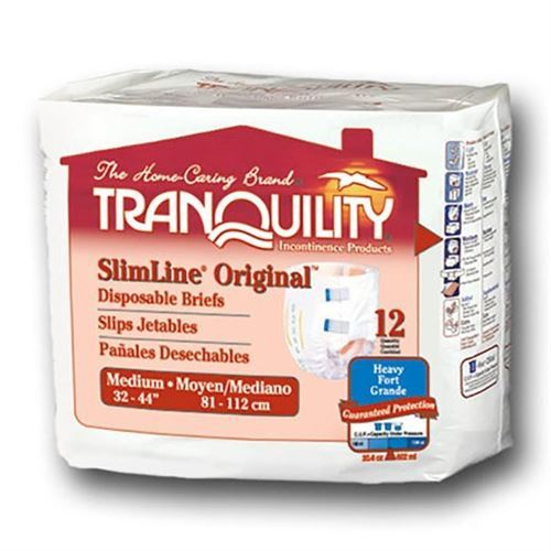 Tranquility SlimLine Brief, 20-2/5 oz. Fluid Capacity, MED 32-44 Inch-Case of 96