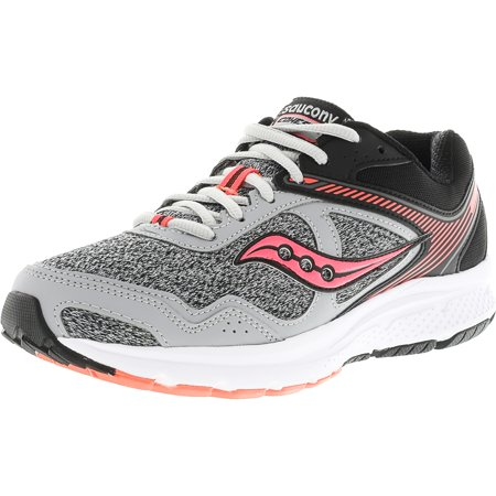 Saucony Women's Grid Cohesion 10 Grey / Black Coral Ankle-High Running Shoe - 11M (Saucony Grid Type)