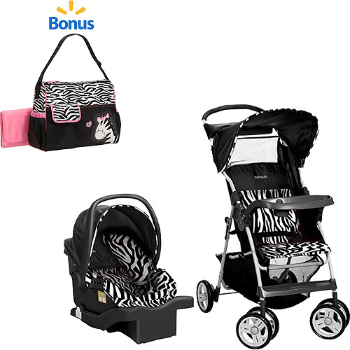 Cosco Commuter Travel System w/BONUS Diaper Bag, Zahari