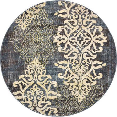 unique loom damask blue area rug