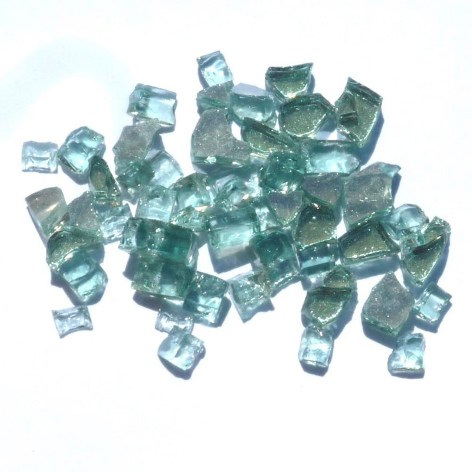 Tretco 0.25 in. Forest Green Reflective Fire Glass Crystals