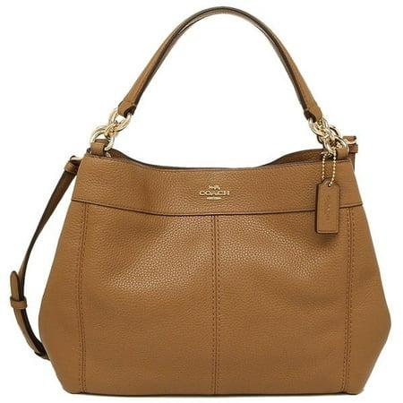 c6b29e8fa548 NEW WOMENS COACH (F28992) SADDLE PEBBLED LEATHER SMALL LEXY SHOULDER BAG  HANDBAG - Walmart.com