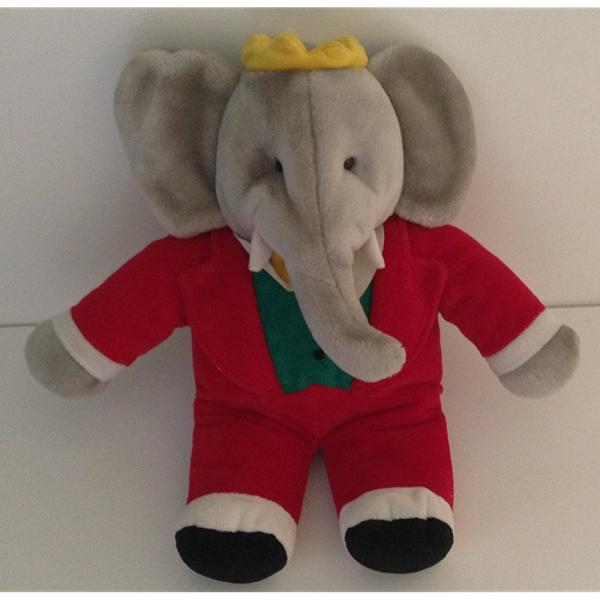 Gund 14 Stuffed Babar The Elephant King Of The Elephants Walmart Com
