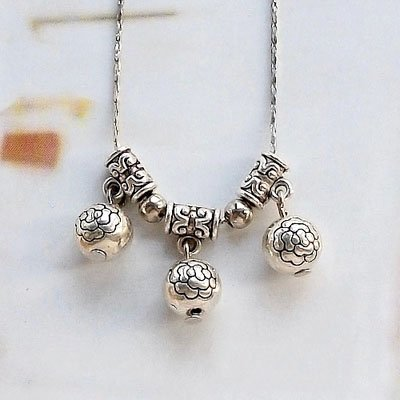 Ethnic jewelry, handmade jewelry wholesale folk style necklace Tibetan silver short female transfer