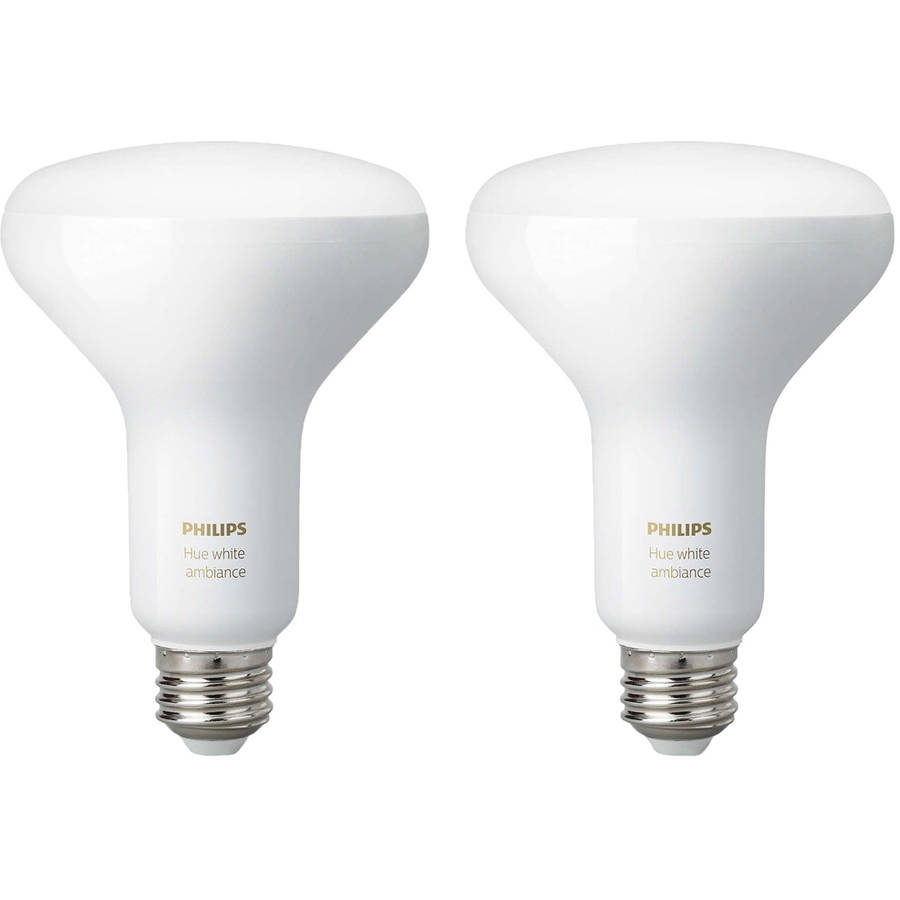 Philips Hue White Ambiance BR30 LED Light Bulb, 2 Pack by Philips