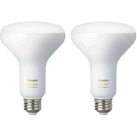 Philips Hue 2pk BR30 White Ambiance LED Bulb