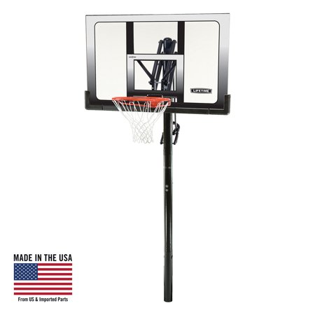 Lifetime Adjustable In-Ground Basketball Hoop (52-Inch), 71281
