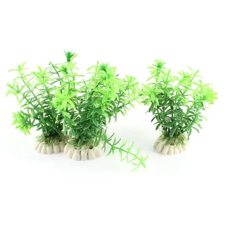 4PCS 10cm Green Plastic Emulational Grass Aquatic Plant Decor for Aquarium Tank - image 3 de 3