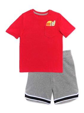 365 Kids from Garanimals Boys T-Shirt & Knit Shorts 2-Piece Outfit Set, Sizes 4-10