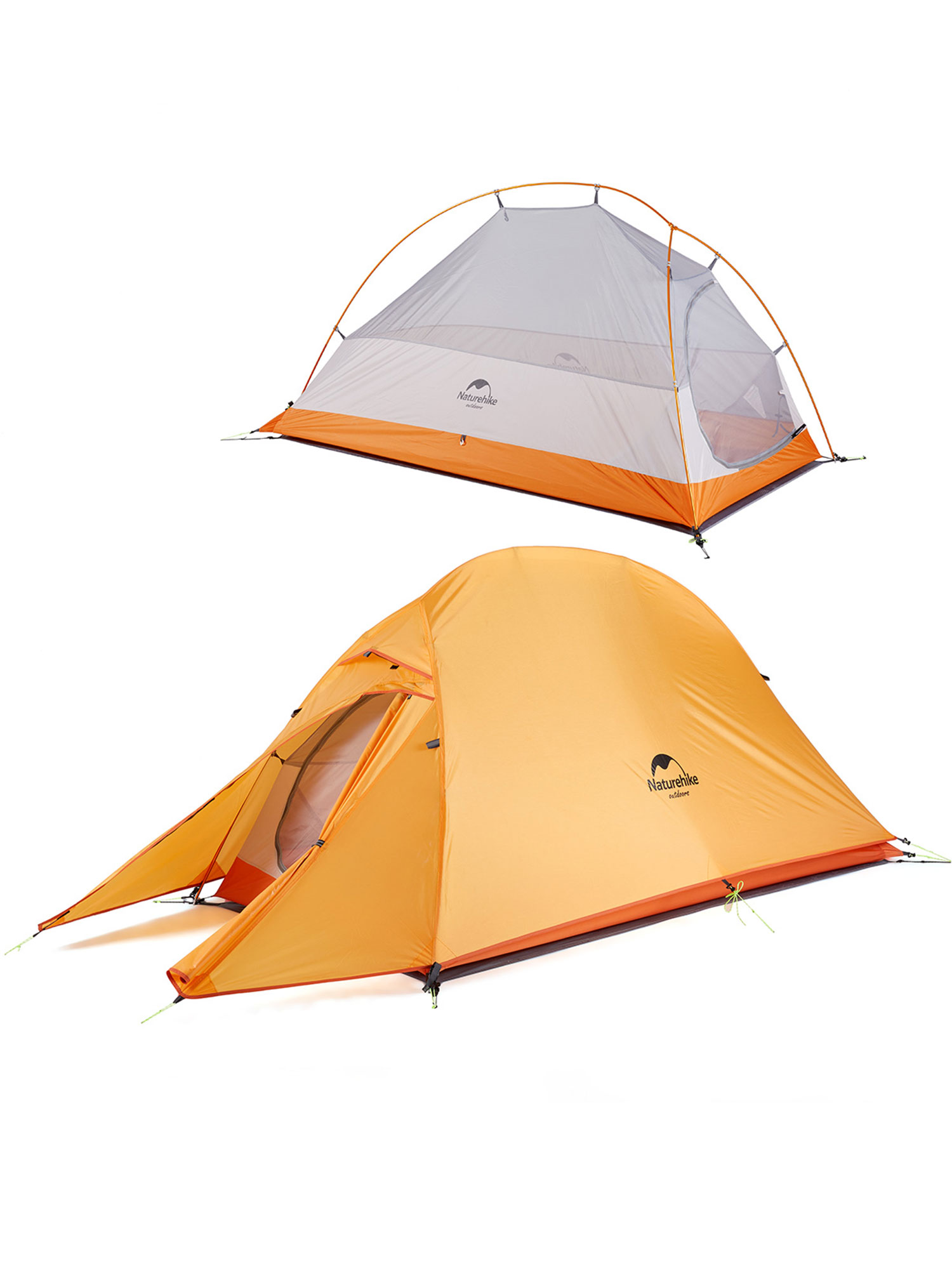 Waterproof Double Layer Backpacking Tent 4 Seasons Naturehike Cloud-up 2 Ultralight Camping Tent for 2 Persons