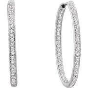 Gold and Diamonds E31556-W 0.51CT-DIA FASHION HOOPS- Size 7