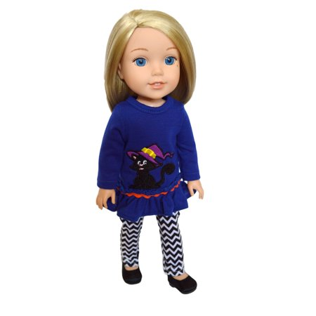 My Brittany's Halloween Outfit for Wellie Wisher Dolls/Glitter Girl Dolls/ Hearts for Hearts Dolls- 14 Inch Doll Clothes (Doll Outfits For Halloween)