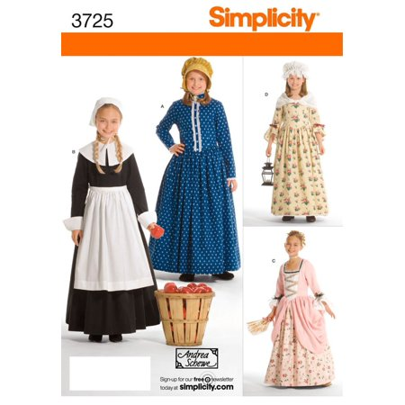 Simplicity Sewing Pattern 3725 Child and Girl Costumes, HH (3-4-5-6), Child and girl costumes in size hh (3-4-5-6) simplicity pattern 3725 By Simplicity Creative Group Inc - Sewing Patterns Halloween Costumes