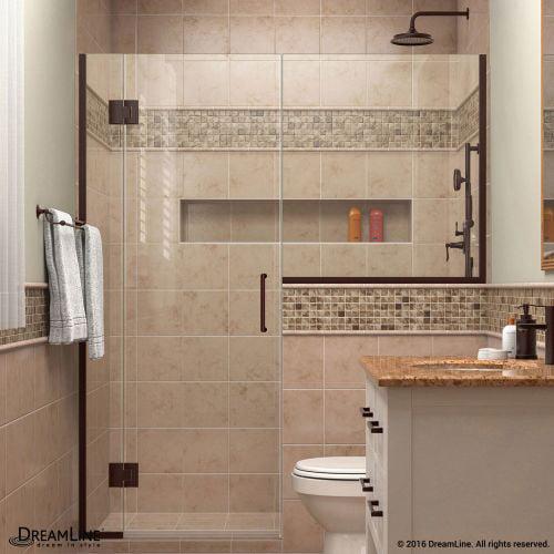 "DreamLine D12336 Unidoor-X 72"" High x 66"" Wide Hinged Frameless Shower Enclosure"