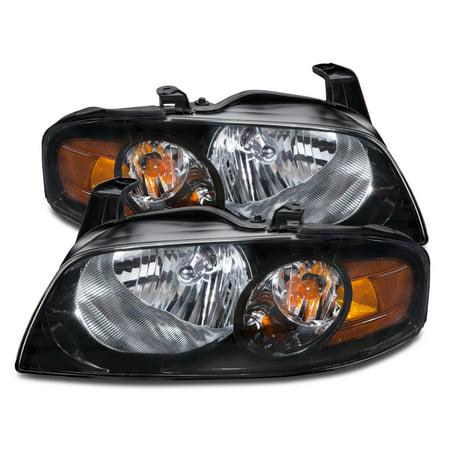 2004-2006 Nissan Sentra SE-R New Headlights Left Driver Right Passenger Headlamps Pair Assembly NI2502153 & NI2503153