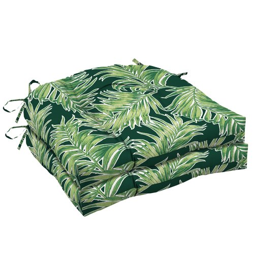 Bay Isle Home Tropical Outdoor Dining Chair Cushion (Set of 2)