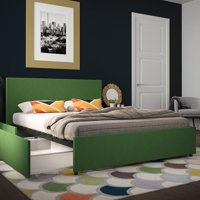 Novogratz Kelly Upholstered Bed with Storage, Multiple Colors, Multiple Sizes