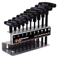 Performance Tool W80274 10pc SAE T-Handle Hex Key Set