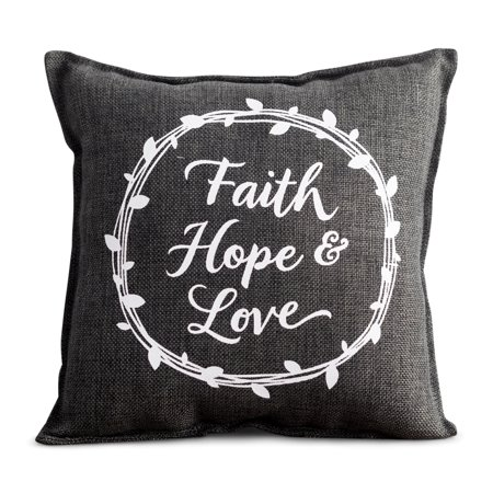 Small Pillow Boxes - DaySpring  -  Faith, Hope & Love - Small Throw Pillow
