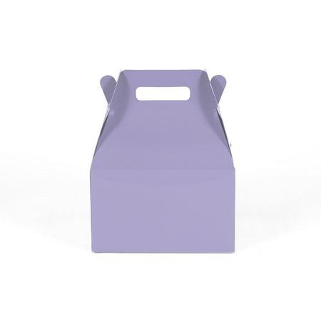12CT(1 Dozen) Medium Biodegradable, Kraft/Craft Favor, Treat Gable Boxes, Gift Expressions (Medium, Lavender)