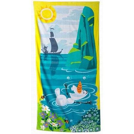Disney Cinch Bag (Disney Jumping Beans Frozen Olaf Cotton Beach Towel & Cinch Tote Bag)